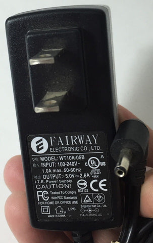 FAIRWAY WT10A-05B +5.0V-2.6A Power Supply Adapter