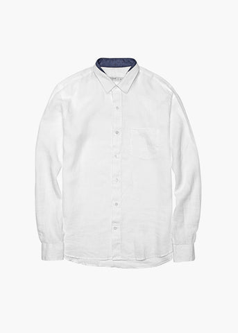 Long-Sleeve Linen Shirt - Captain's White