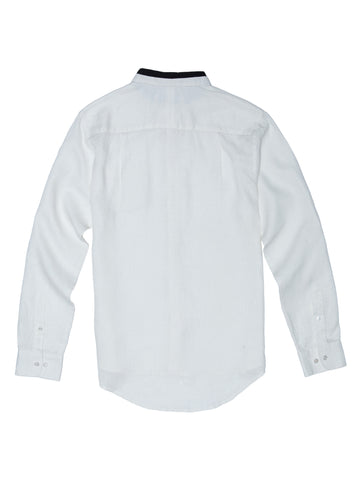 Stain Resistant Linen Shirt - Famous White