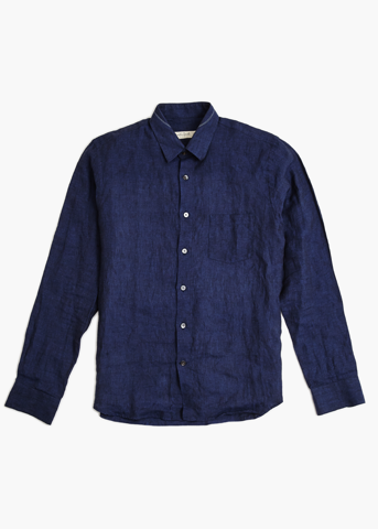 Long Sleeve Linen Shirt – Desert Navy