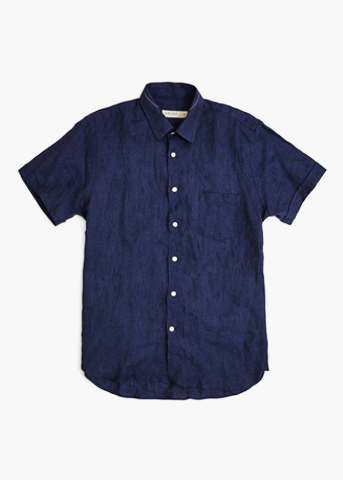 Short Sleeve Linen Shirt – Desert Navy
