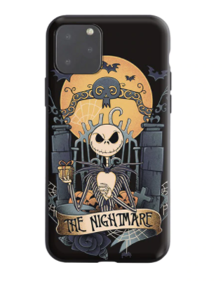 The Nightmare Before black IPhone Case