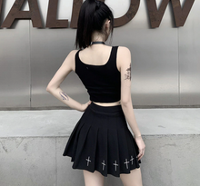 Load image into Gallery viewer, Goth cute Crop Top