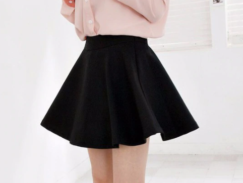 Women black Elastic Skirt
