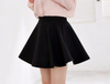 Black Elastic Skirt
