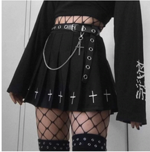 Load image into Gallery viewer, High Waist Mini Black Skirt Gothic