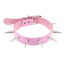 Load image into Gallery viewer, Emo/Goth Choker With Spikes For Both Gender