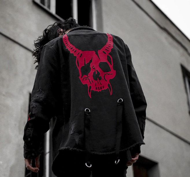 BLACK DEMON JACKET FOR MEN