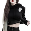 Gothic Cropped Hoodie