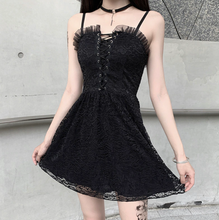 Load image into Gallery viewer, Goth Lace Vintage Dress