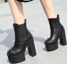 Load image into Gallery viewer, Gothic Punk High Heeled Boots