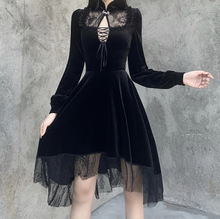 Load image into Gallery viewer, Goth Vintage Lace Dress