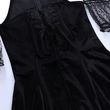 Load image into Gallery viewer, Bandage Black Goth Dress
