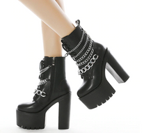 Load image into Gallery viewer, Goth Platform High heels Boots