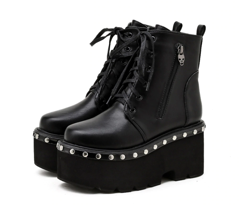 Skull Goth Boots
