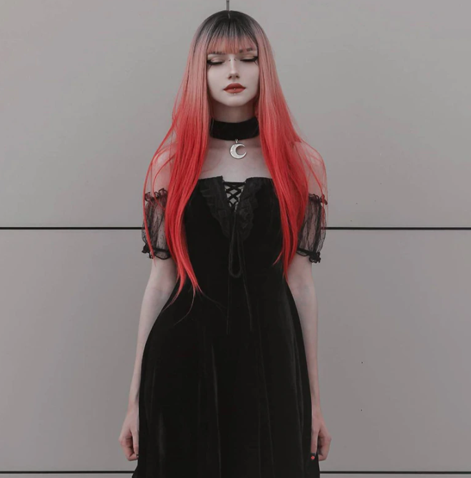Vintage Goth Aesthetic Dress