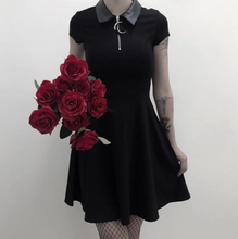 Load image into Gallery viewer, Black Goth Aesthetic Dress