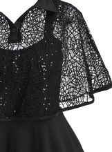 Load image into Gallery viewer, Spider Web Gothic Dress (Plus Size)
