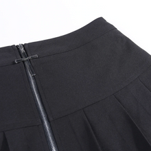 Load image into Gallery viewer, Goth Cross Zipper Mini Skirt