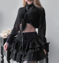 Load image into Gallery viewer, Pleated Lace Mini Skirt
