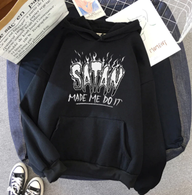 Satan Made Me Do It Hoodie