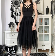 Load image into Gallery viewer, Goth Asymmetric Patchwork Dress