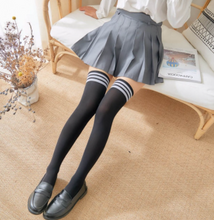 Load image into Gallery viewer, 1 Pair Stripe Stockings for Girls