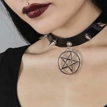 Load image into Gallery viewer, Pentagram Gothic Choker