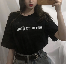 Load image into Gallery viewer, Goth princess T-shirt