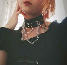 Load image into Gallery viewer, Emo Goth Chocker with spikes