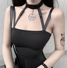 Load image into Gallery viewer, Gothic/eMo Black Mini Dress