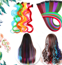 Load image into Gallery viewer, Colored Long Straight  Hair Extensions