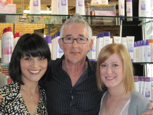 With KMS California's Alan Earnshaw and Bumble + bumble NYC Stylist Tiffani Patchett