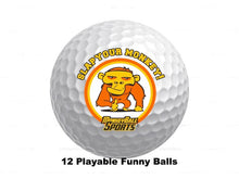 Load image into Gallery viewer, Slap Your Monkey Golf Balls (12)