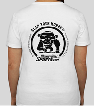 Load image into Gallery viewer, Ladies Slap Your Monkey T-Shirt Funny Golf Gear T-Shirt