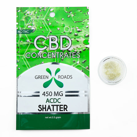 Green Roads 450 MG Shatter ACDC