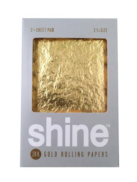 Shine Blunt Wraps Regular Size 2 Pack 24k Gold