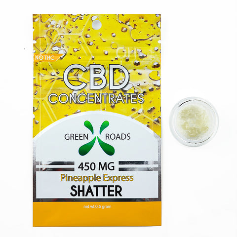 Green Roads 450 MG Shatter Pineapple Express