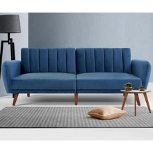 Load image into Gallery viewer, Resort Living | Lilita Velvet 3 Seater Sofa Bed-3 Seater Sofa Bed-POD Furniture Australia