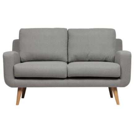 Zanui | Tomas 2 Seater Velvet Sofa, Light Grey-2 Seater Sofa-POD Furniture Australia