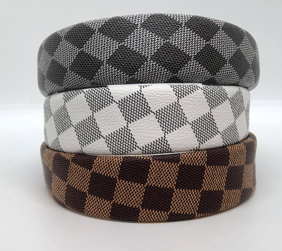 Lacey Checkered Print Headbands