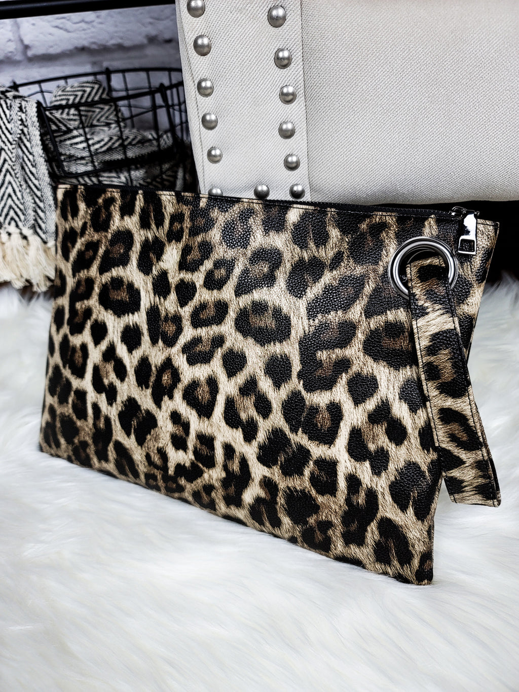 Into the Mystic Leopard Clutch