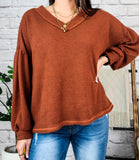 Sweet Freedom Rust Thermal Top