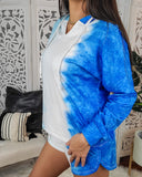 Boardwalk Overlook Blue Tie Dye Loungewear Set