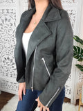 Rhythm of the Night Zipped Suede Jacket
