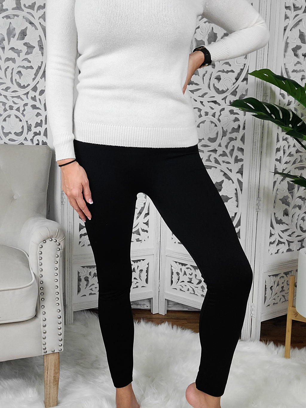 Keep Me Warm Black Leggings