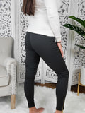 Cruise Into the Night Gray Moto Leggings