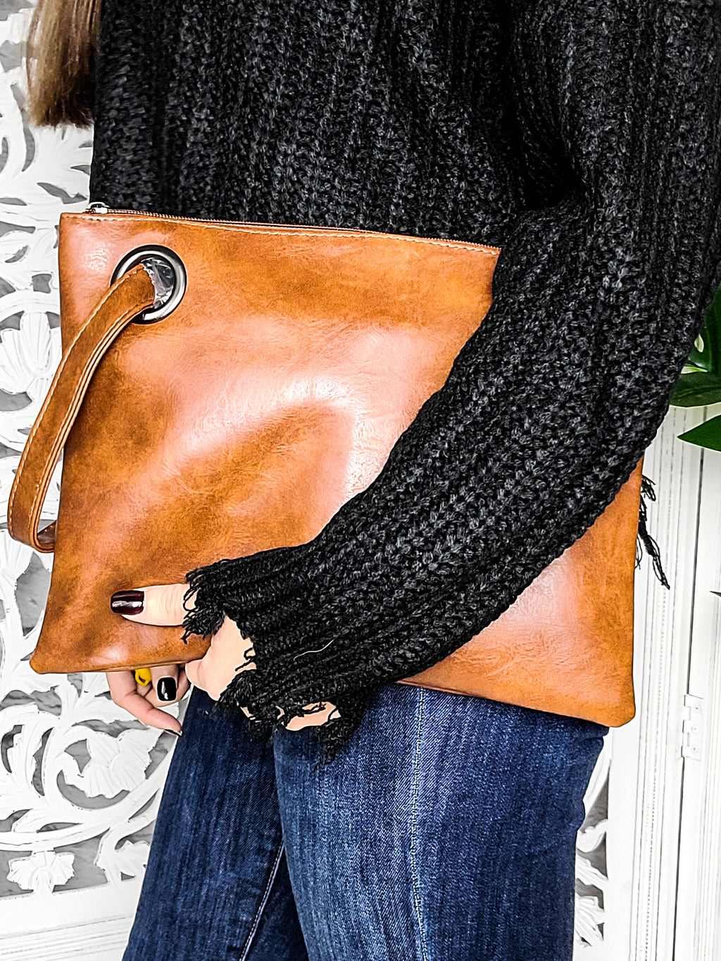 Into the Mystic Brown Clutch