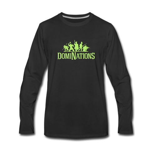 Men's DomiNations Lime Green Long Sleeve T-Shirt - black