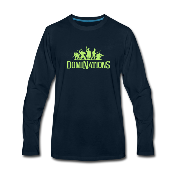 Men's DomiNations Lime Green Long Sleeve T-Shirt - deep navy